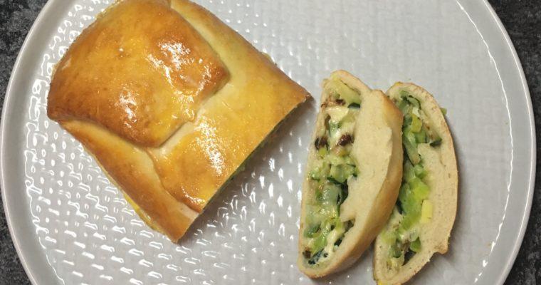 Zucchini-Porree-Strudel